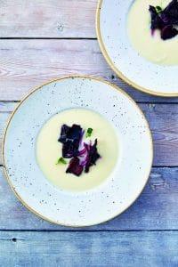 Suppe á la brændende kærlighed med tang